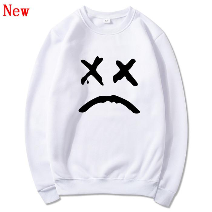 Lil Peep Casual Loose Printed Hip Hop Sweatshirts Men Hoodie Pullover O Neck Long Sleeve Sweatshirt Men Women Clothing QJ10