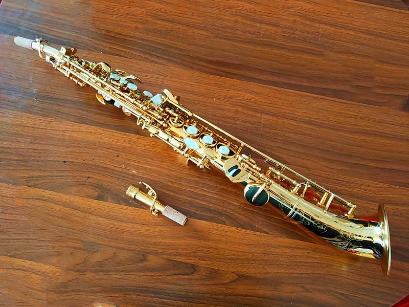 Il belin Keys Soprano saxophone sax Curved bell Soprano saxophone Bb key to High F key and G Key