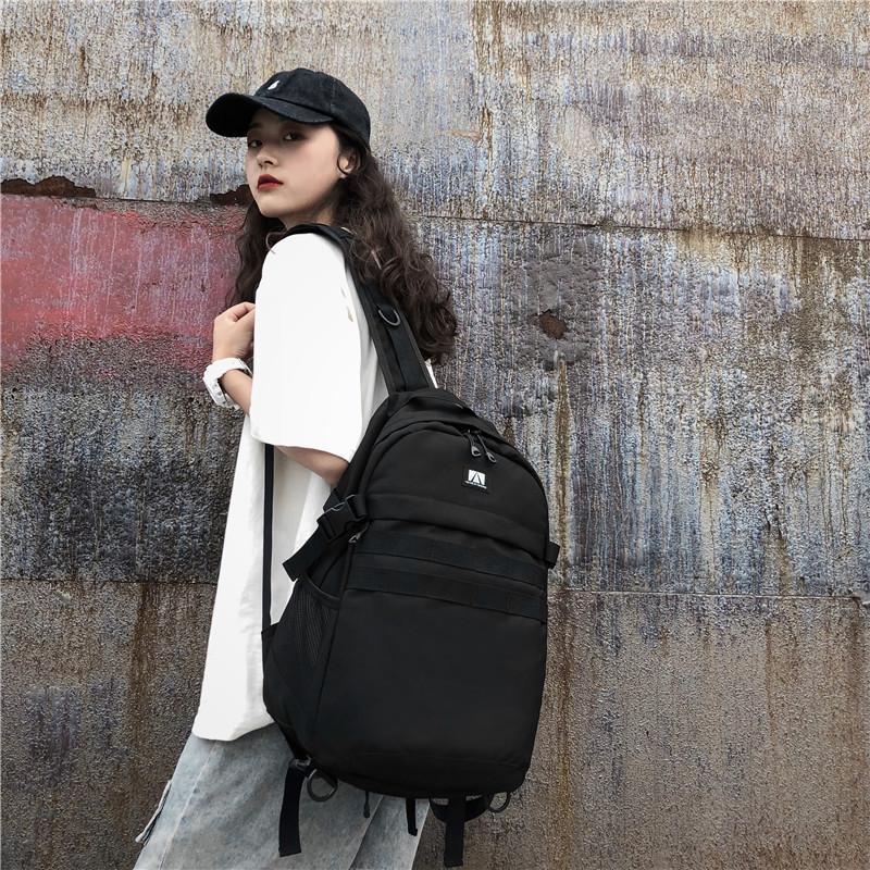 2020 новые дамы плече сумка Корейский случайные моды простой сплошной цвет Оксфорд стиль ткань колледжа большой емкости женщин рюкзак