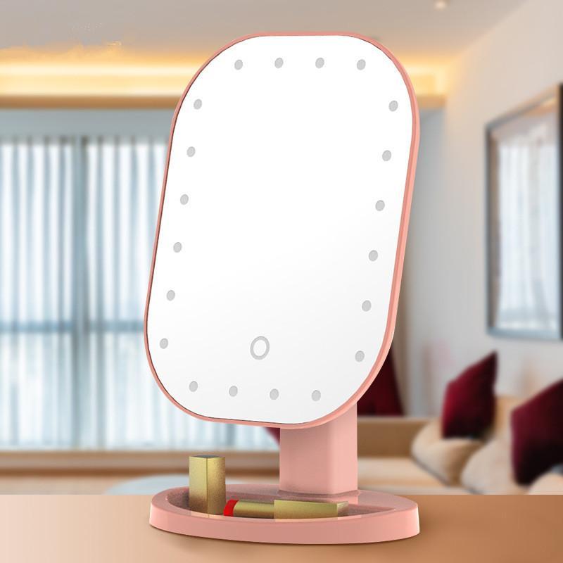 20 LED tocco luci dello schermo dello specchio di trucco USB tavolo da trucco specchio per il trucco a 180 gradi di rotazione Cosmetic pieghevole specchio 3style GGA3132