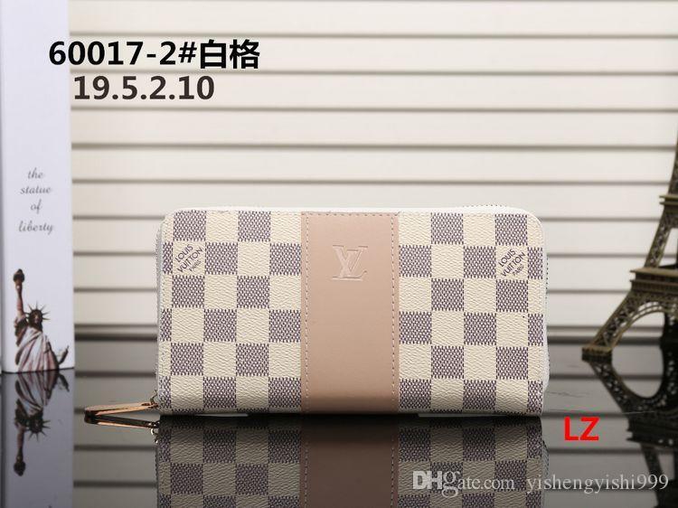 2019 novos homens longo carteira mulheres Moda Bolsa Individual Zipper Luxo Designers Mulheres Couro Carteira Lady Manga comprida Bolsa # 53231