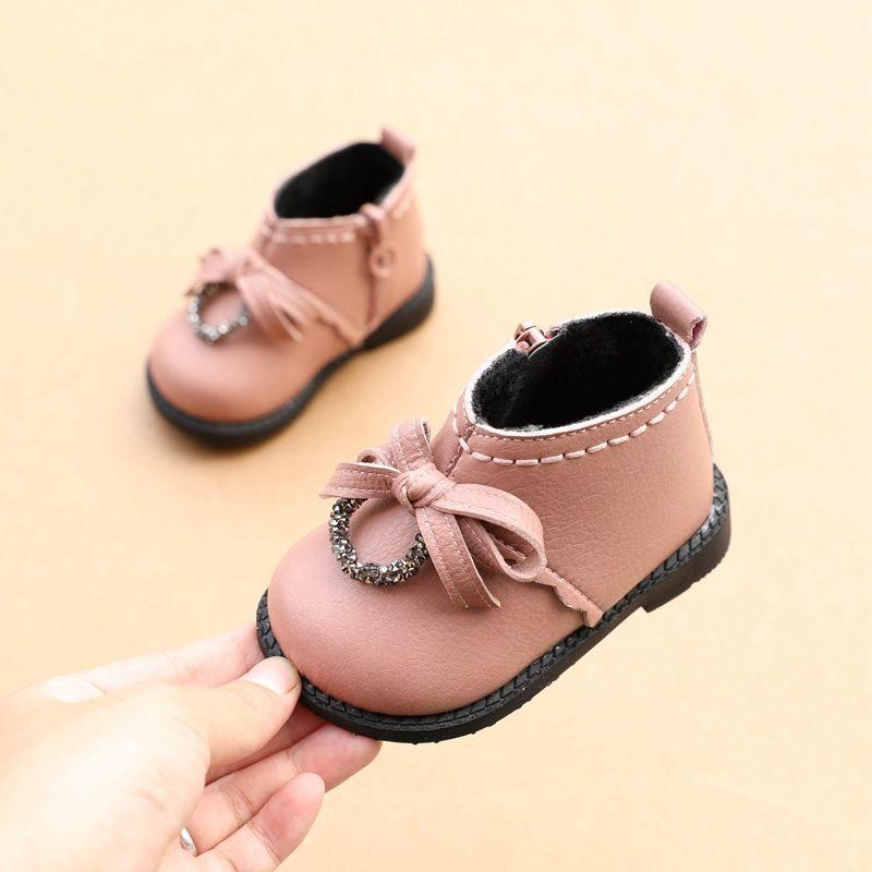 Girl Shoes Cotton Short Boots