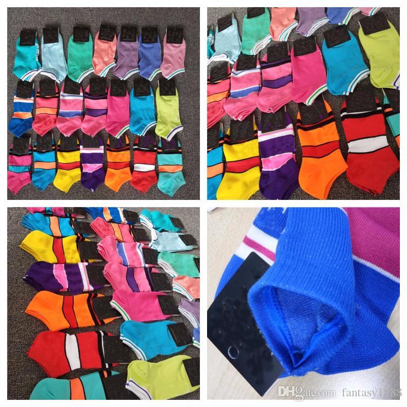Мода быстрые сухие взрослые носки унисекс короткие носки чирлидера спортивные носки подростки лодыжки носки многоцветные с пакетом