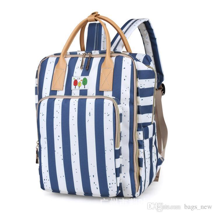 Nursing Bags On Wheels >> Waterpoof Fashion Mummy Maternity Diaper Bag Large Nursing Bag Travel Backpack Designer Stroller Baby Care Nappy Backpack Dhl Wheeled Backpacks