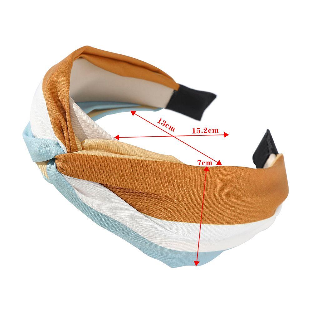 Haimeikang Patchwork fascia Hairbands Colore Donne blocchi dei capelli del cerchio Accessori di moda Lunetta lato largo Accessori per capelli