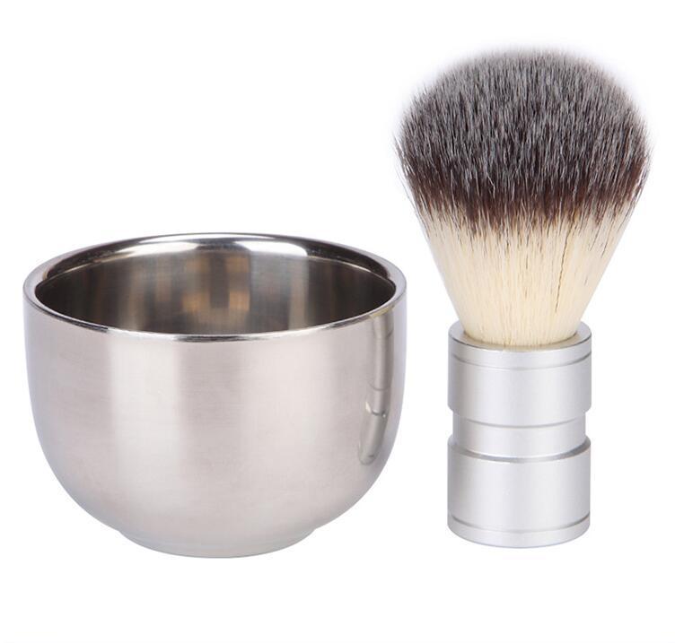 Edelstahl Rasierschale Barber Bart Razor Cup Herren Seifenschale Rasierschale Becher Schüssel männliches Gesicht Reinigung Seife Rasierwerkzeug