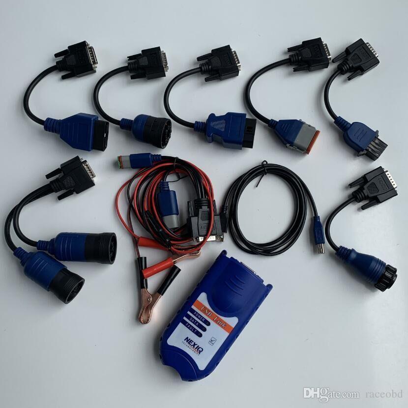 Ferramentas de diagnóstico de Nexiq Link USB 125032 para caminhões com todos os cabos Heavy Diagnostio completo 2 anos de garantia