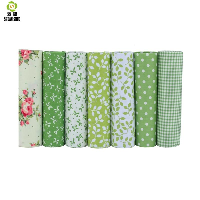 High Quality 10 Serie Floral Series Cotton Patchwork Fabric Fat Quarter Bundles Fabric For Sewing Doll Cloths 40*50cm 7pcs/lot