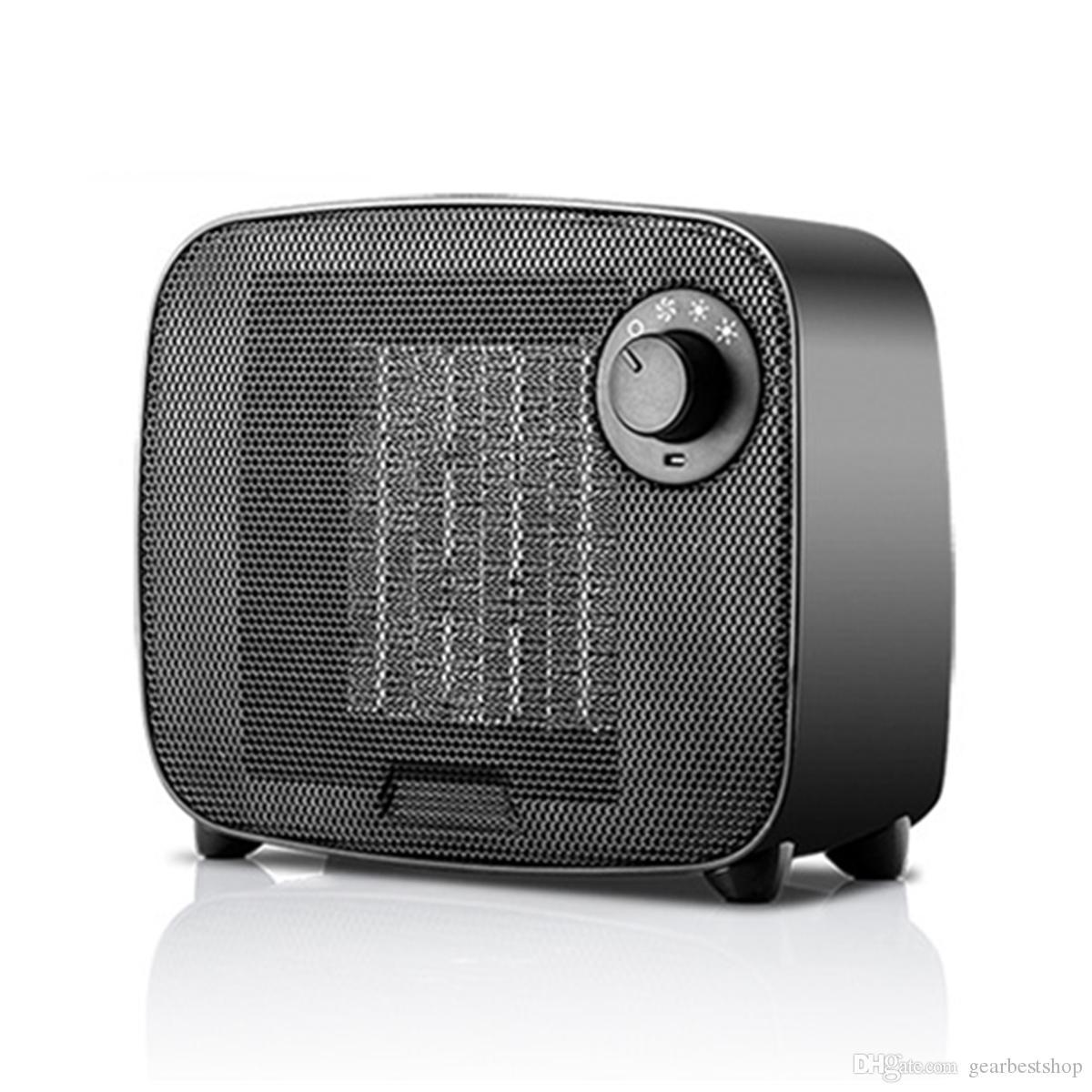 1500W Portable Mini Desktop Air Chauffage PTC céramique Chauffage électrique Accueil chaud Ventilateur - blanc