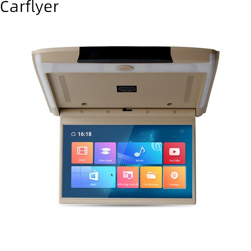15.6 Inch Monitor In Car Android 8.1 Flip Down Car Roof Screen WIFI/HDMI/USB/SD/FM/Bluetooth/Speaker MP5 Ceiling TV For