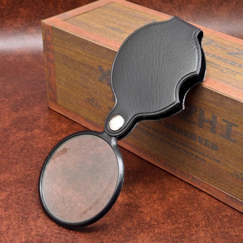 ميني جيب 8x50 ملليمتر الطي مجوهرات المكبر المكبرة العين العدسة زجاج عدسة طوي مجوهرات loupes في الأدوات CCA11598 100 قطع
