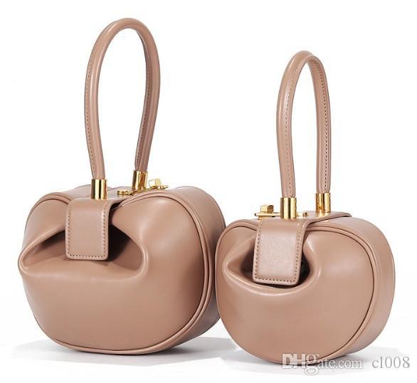 Tasarımcı Çanta Börek 21 cm, 16 cm Şekli Deri Napa İki Casual Crossbody Son Çanta Tote Kadın Boyutları USFAF