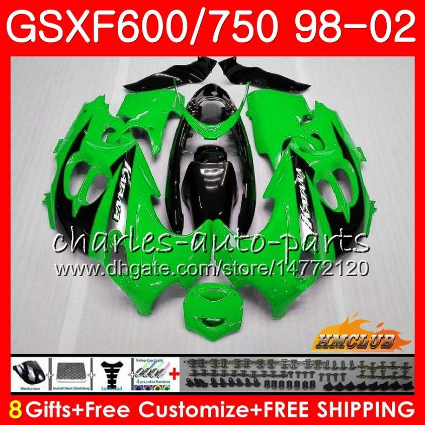 Suzuki Katana Light Green GSXF 750 600 GSXF600 98 99 00 01 02 2HC.2 GSX750F GSX600F GSXF750 1998 1999 2000 2001 2002 페어링 키트