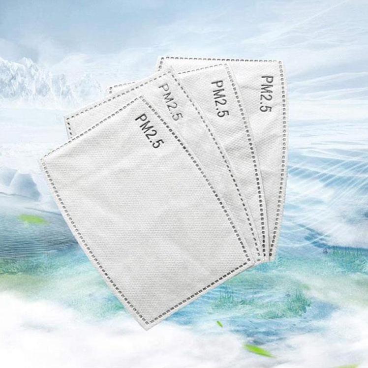 5 Couche de protection Masque Filtre P2,5 Masque jetable Pad Masques de visage remplacement Pad joint intérieur Filtre de rechange Pad Respirat EEA1725