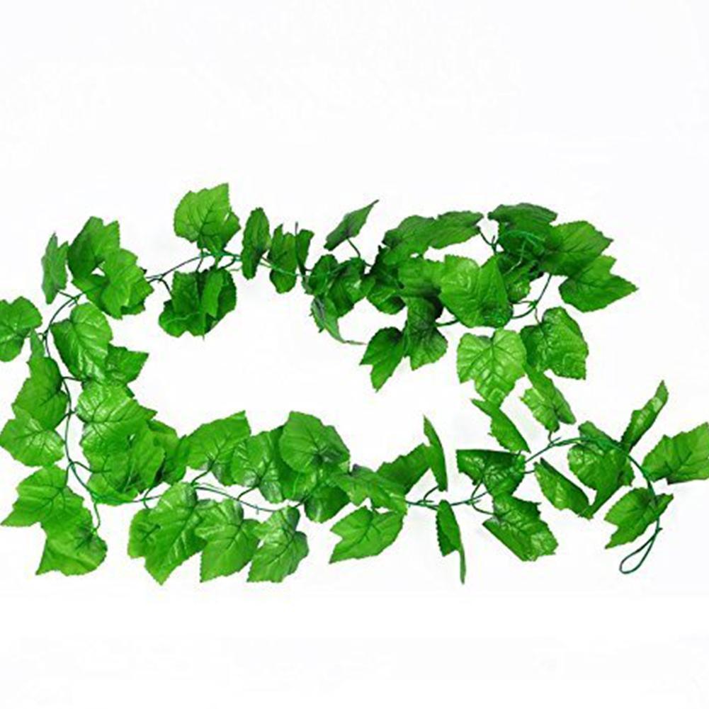Yapay Yeşil Üzüm Asma Avlu Ev Düğün Dekorasyon Simülasyon Bitkiler Yeşil Üzüm Asma Sahte Bitki Colorfu Bırakır