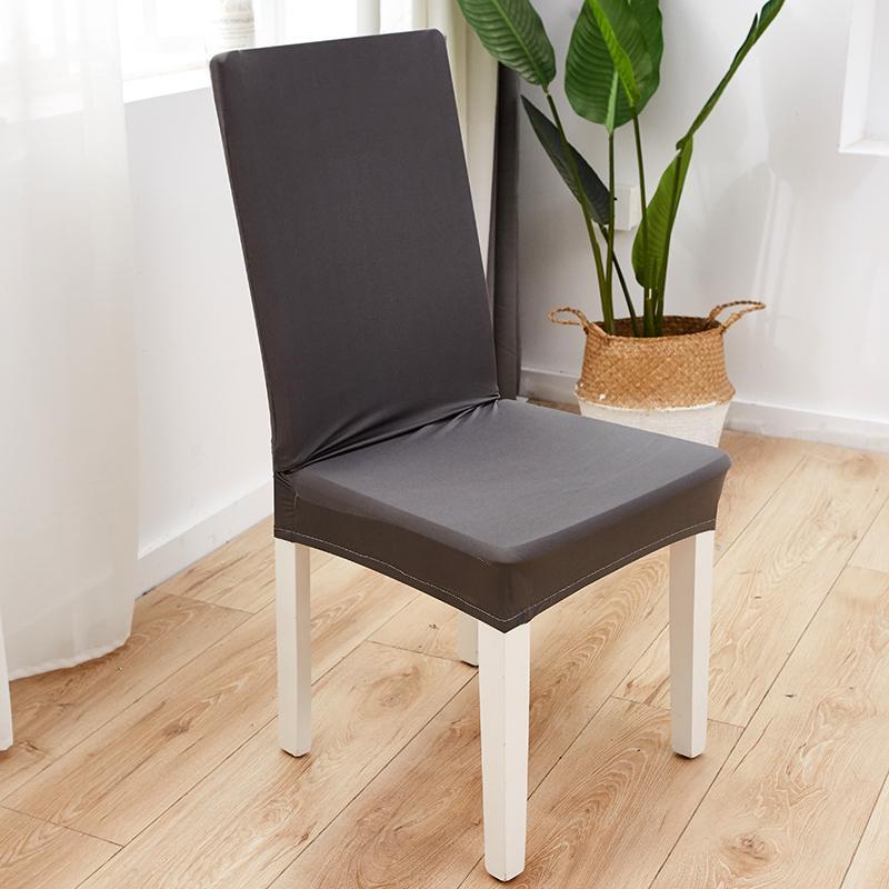 Chaise extensible couleur solide couverture Spandex Sofa Chaise blanche Pour Salle à manger Cuisine mariage Banquet Hôtel