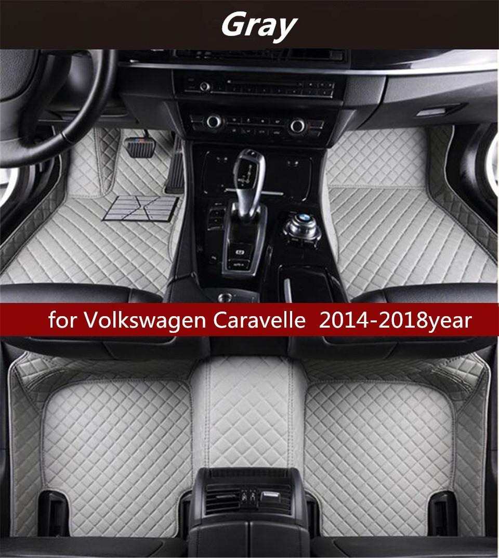 pour Volkswagen Caravelle 2014-2018year tapis de sol non toxique antidérapante tapis de sol de voiture