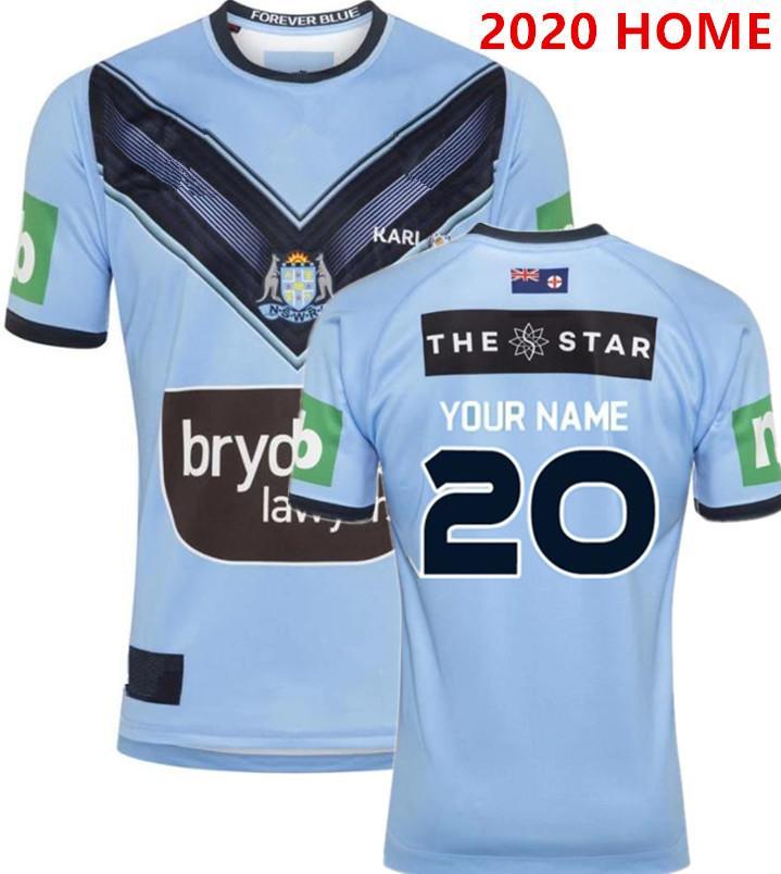 NSW 2020 BLUES ALTERNATIVAS JERSEY ESTADO DE ORIGEM rugby Jersey 2019 NSW BLUES CASA tamanho PRO JERSEY S-L-5XL