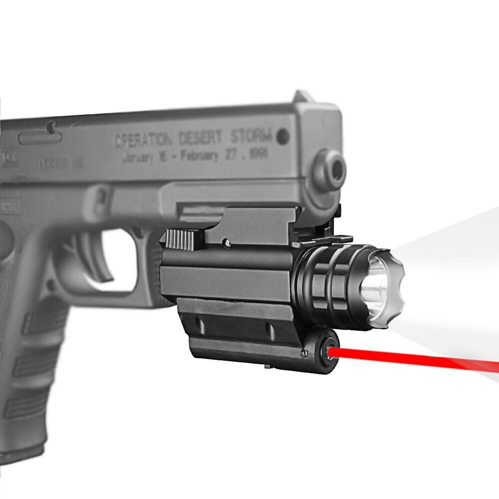 HQ التكتيكية مسدس مضيا ضوء الليزر أحمر ضوء ستروب ضوء ل glo ck g17 g19 20 ملليمتر السكك الحديدية جبل بندقية البندقية 250 lumens cree led مجانا