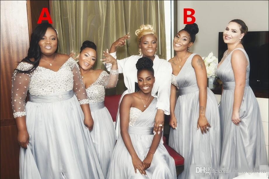 2020 Neueste elegante Abendkleid Chiffon afrikanischen Land Garten Formal Wedding Party Guest Maid of Honor-Kleid plus Größe nach Maß