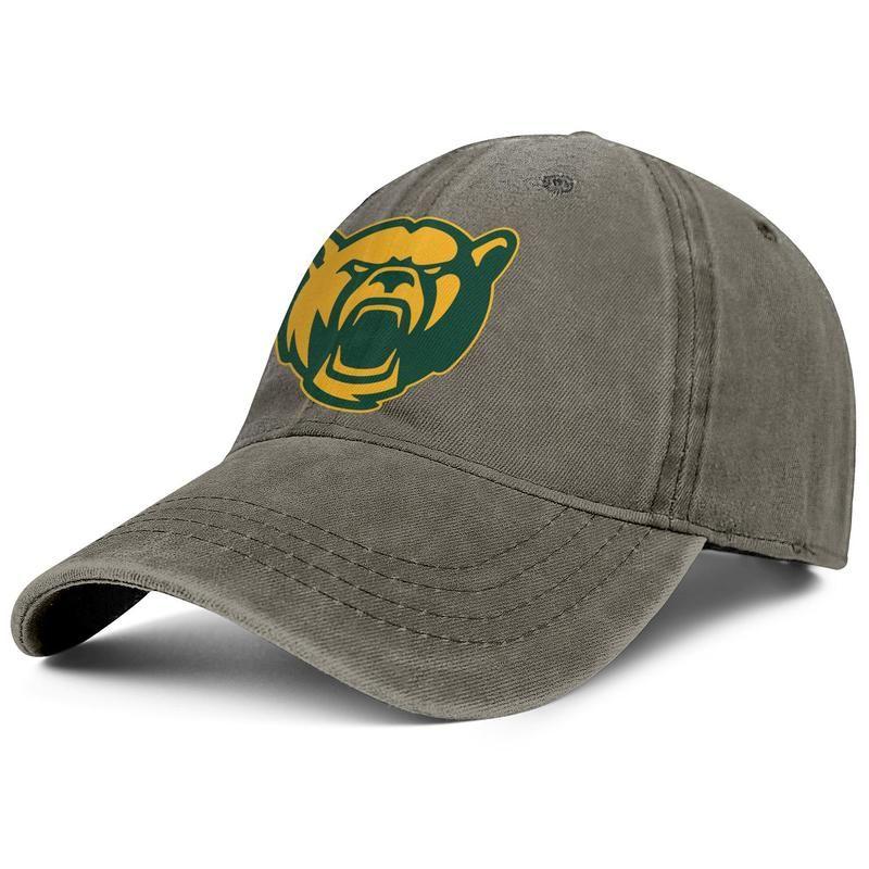 Бэйлор медведи футбол желтый логотип мужская джинсовая бейсбольная кепка для гольфа старинный обычай Алачати шляпы Техаса футбол расположенное ядро курить логотип Новый