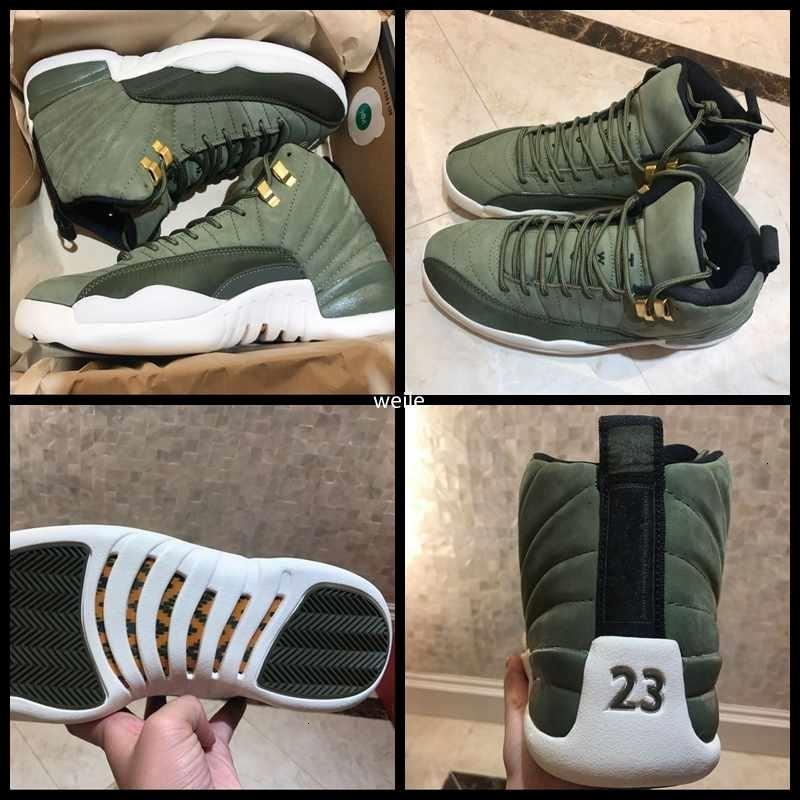 Real Carbon Fiber 12 12s Xii Graduation Pack Chris Paul Class Of 2003 Mens Basketball Shoes Top Quality Cp3 Green Suede Sneakers