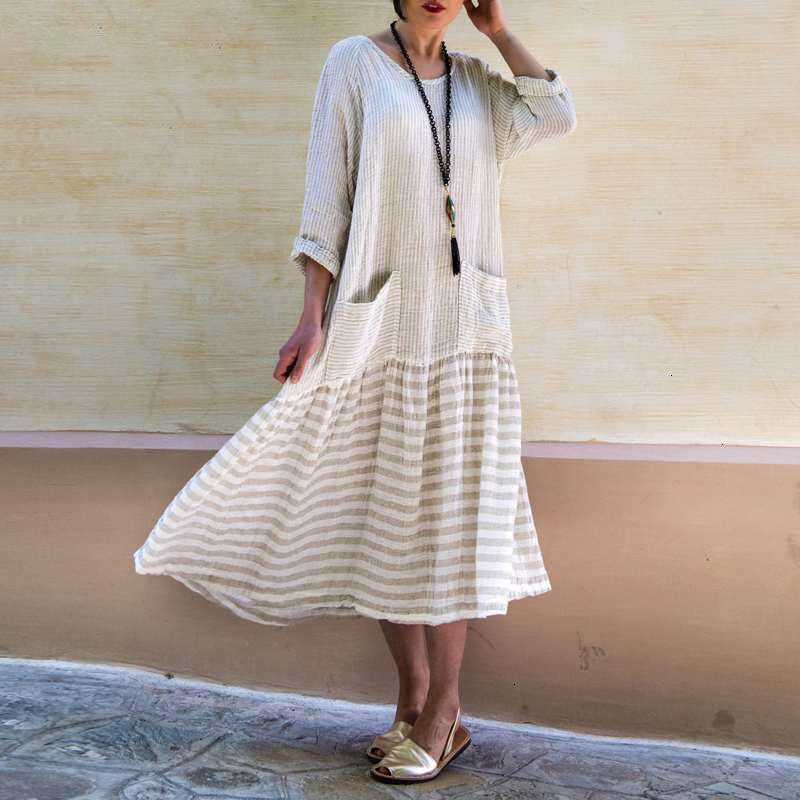 Le donne vestiti delle donne abiti firmati Boemia abiti da 2019 a maniche lunghe Twill Women Vintage rappezzatura della banda Vestiti Femminile Plus Size