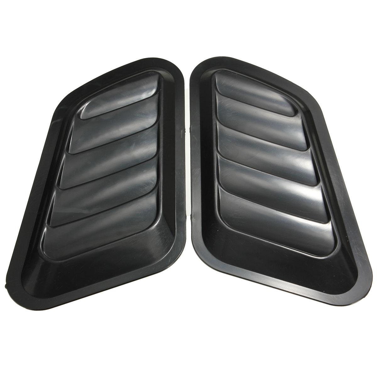 1 Pair Car Air Flow Intake Scoop Turbo Bonnet Vent Cover Hood Fender Gray/Black