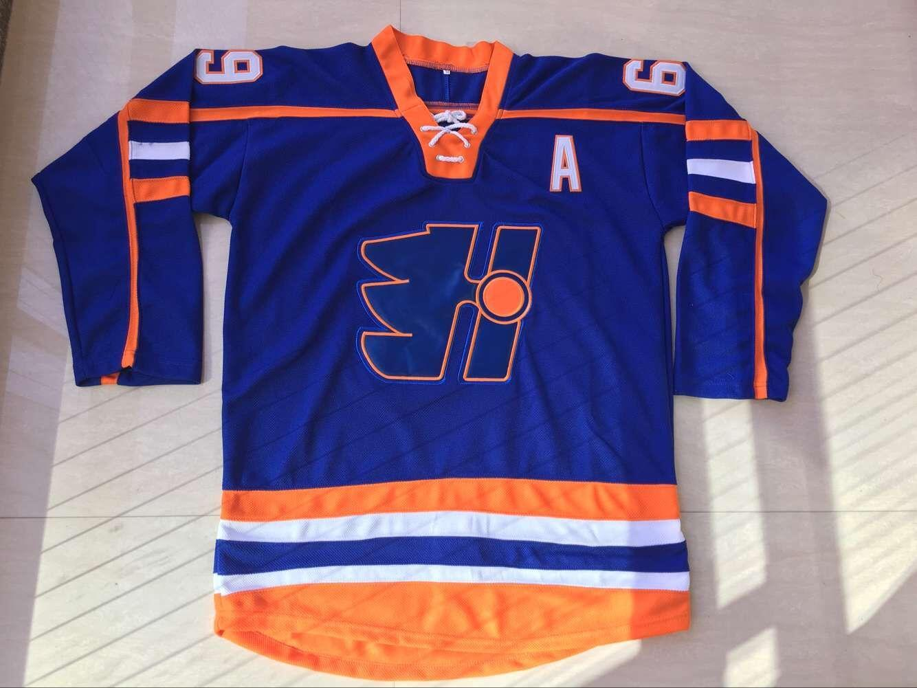 Ice Hockey Jersey Goon Doug Glatt Halifax #69 Movie Pullover Mens Sportwear Tops