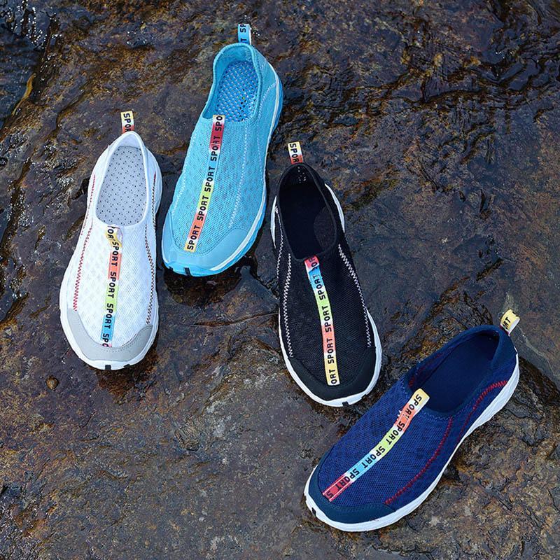 Sapatos de desporto ao ar livre de secagem rápida Sneakers Homens verão respirável de Fitness Gym Água Luz do Aqua sapatos de praia M88