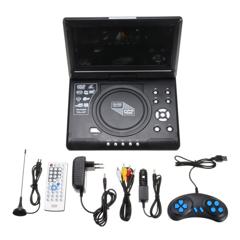 Display a cristalli liquidi di Freeshipping Car DVD del gioco TV Player HD 9.8 pollici MP3 USB Ricezione Radio Adapter Supporto multilingue Radio FM