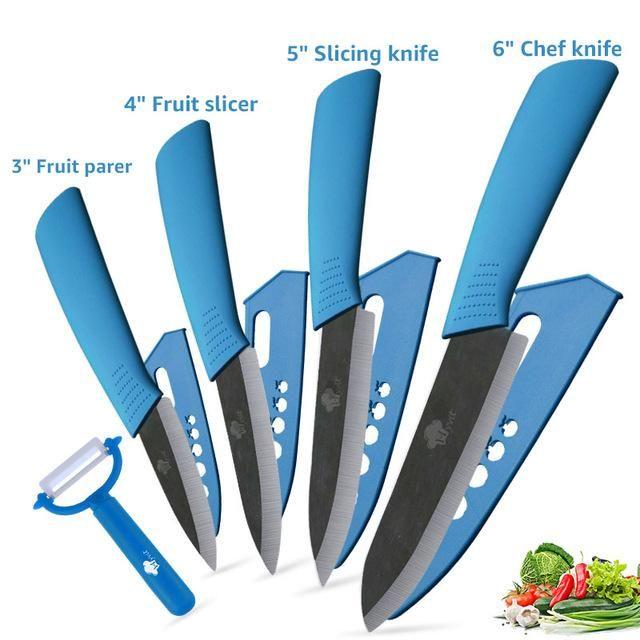 Coltelli da cucina lama di ceramica 3 \ 4 \ 5 \ 6 pollici Zirconia giapponese Knife Black Blade di sbucciatura di ceramica della frutta Chef Knives Cooking Set