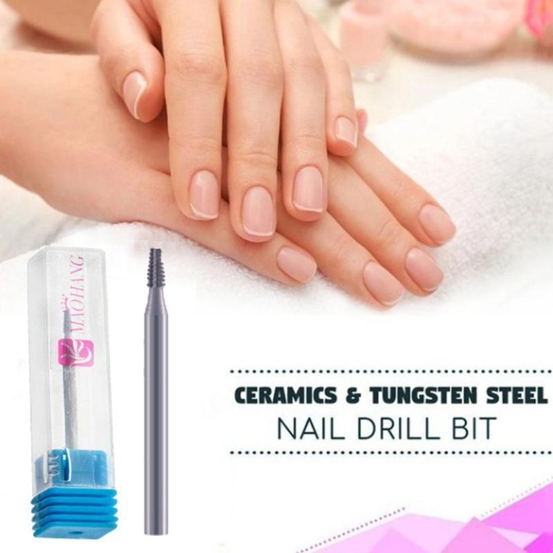 Carbide Cuticle Clean Nozzle Bit Nail Drill Bit Milling Cutter For Nail Art Electric Manicure Machine Burr Pedicure Tools