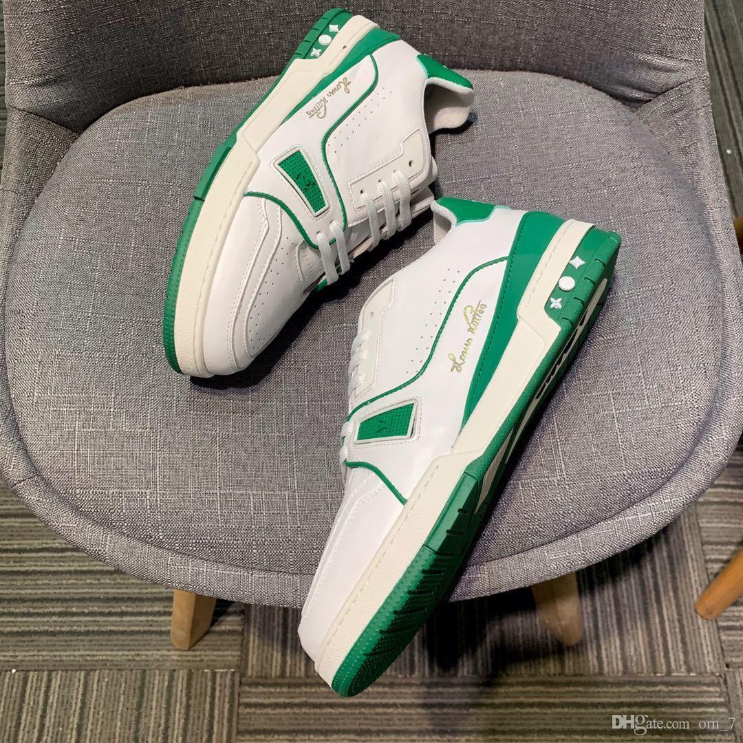 2020U moda in pelle di fascia alta alfabeto low-top scarpe da tennis piane esterne, di alta qualità casuale selvaggio scarpe da uomo di modo, formato: 38-45