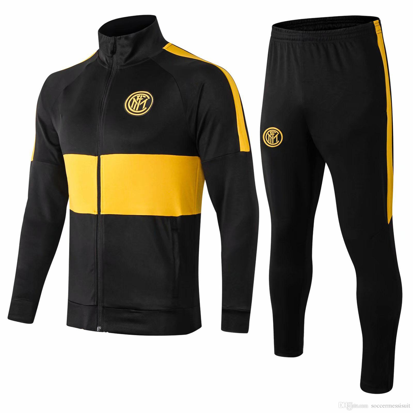 19 20 top qualidade Inter jaquetas de terno terno ICARDI camisas de futebol NAINGGOLAN RAFINHA futebol Sportswear LAUTARO jaqueta de treinamento terno