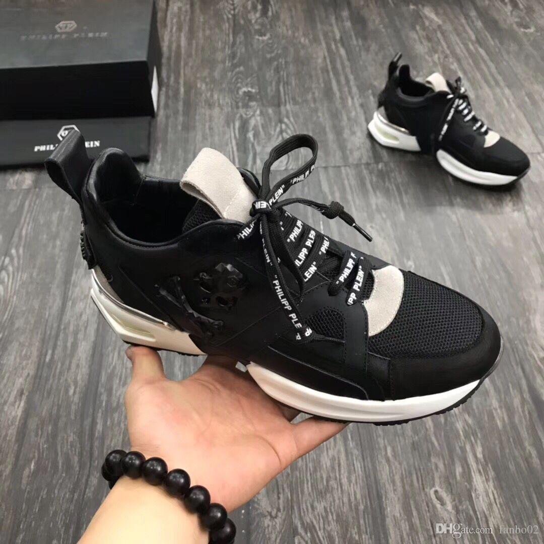 Мужская высококачественная кожа pp череп мужская повседневная обувь мужская спортивная обувь-001 020418