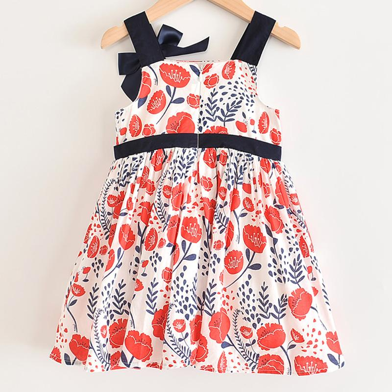 Infant Kid Girl Off Shoulder Floral Printed Casual Dresses One-Piece Costume UK