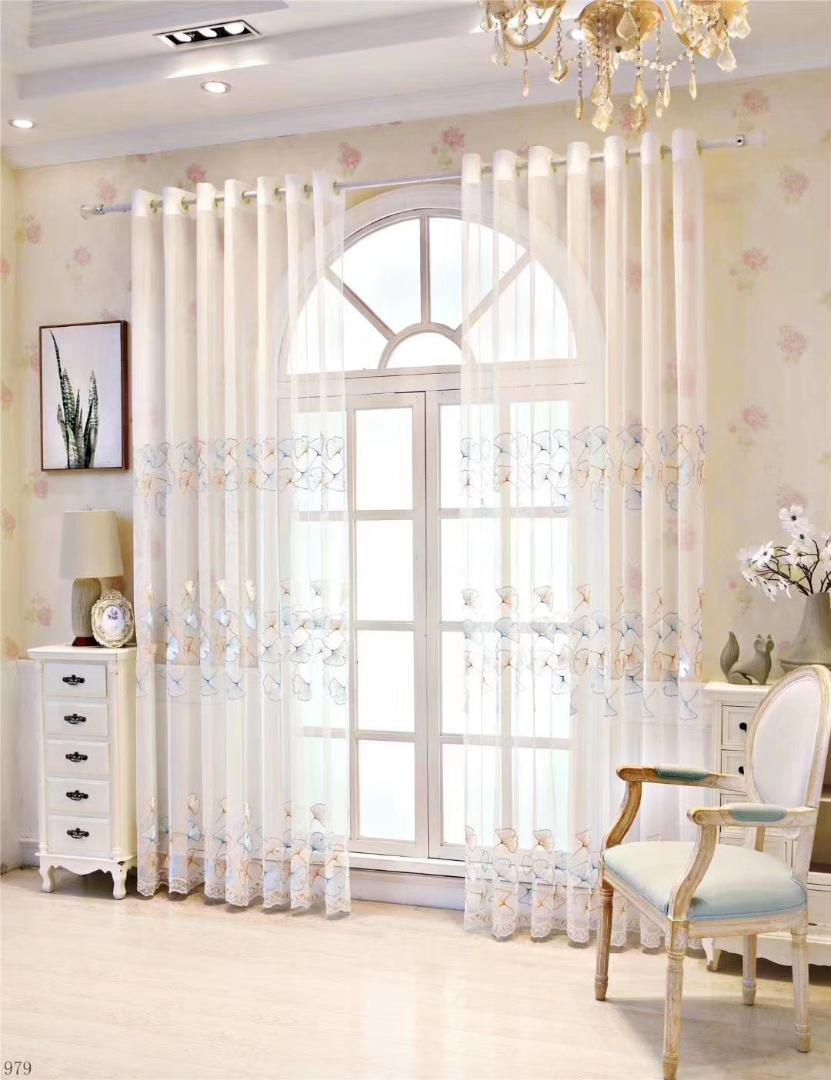 Estilo Europeu Tulle Cortina de porta Cortina Painel Drape Sheer lenço Valances quarto Cortinas para Quarto moderno Living Room