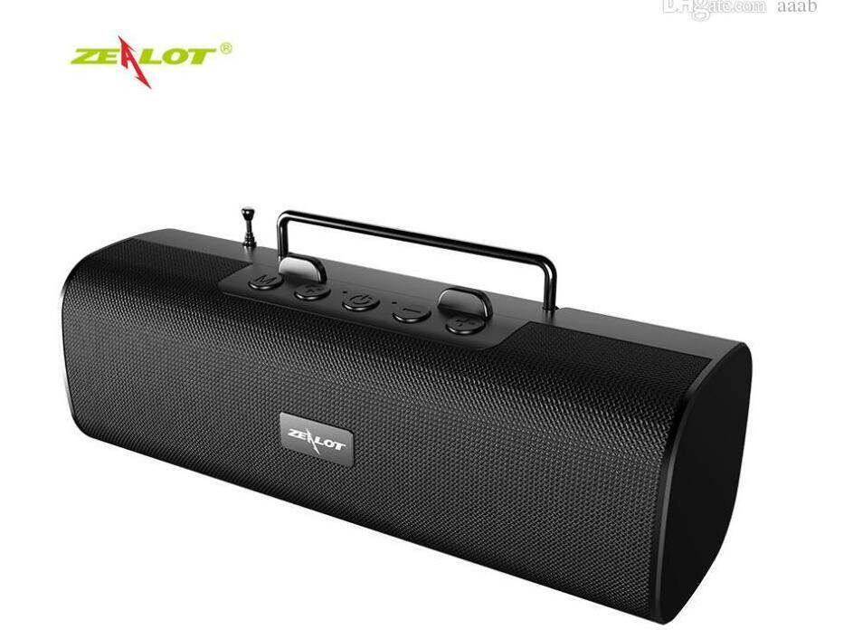 NEW Zealot S40 New Bluetooth Speaker Outdoor Subwoofer FM Super Radio Band Antenna Mobile Phone Stand Speaker 2000 mA 7 Colors