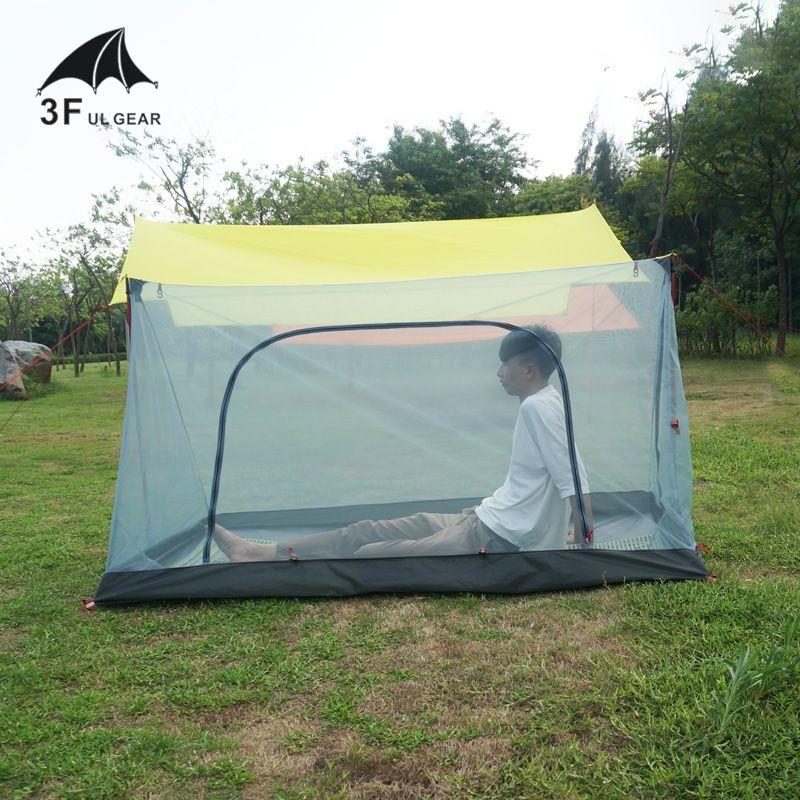 3F UL GEAR Hiker Ultralight 20D Gauze Tent Sky Screen Gauze Tent Outdoor Camping Waterproof Mosquito Proof