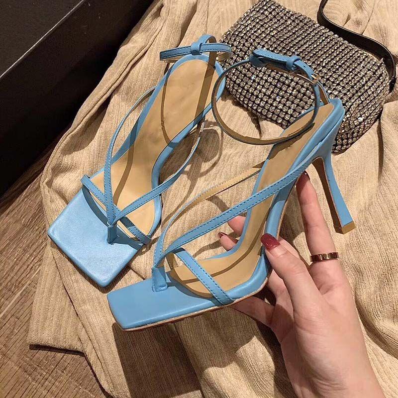 обувь пятки моды женщин обувь на высоких каблуках сандалии STRETCH сандалии женщин шлепки голеностопного ремень сандалии