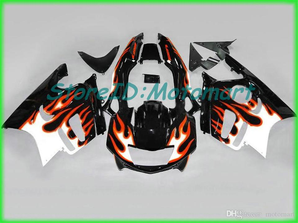 Motorcycle Fairing kit for HONDA CBR600F3 97 98 CBR 600 F3 1997 1998 ABS Red silver black Fairings set+gifts HH26
