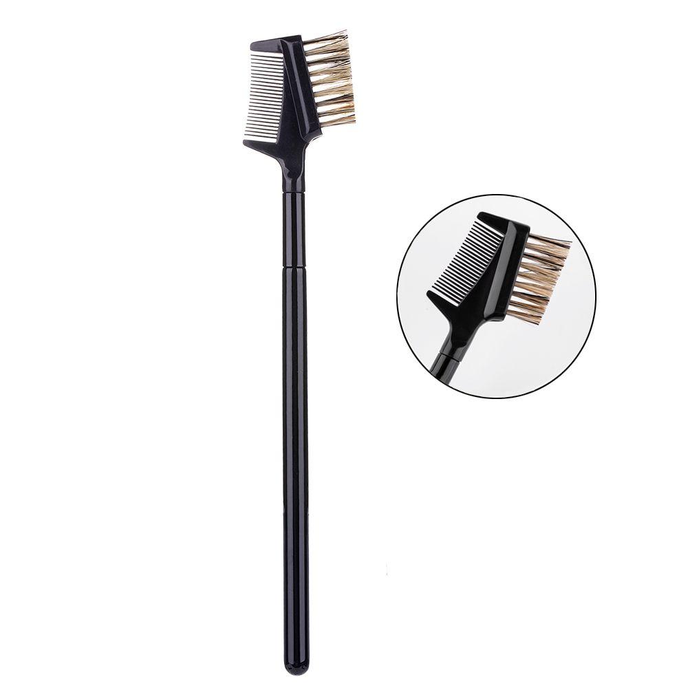 1pcs verdoppeln Verwendung Make-up Pinsel Augenbrauen Kamm und Bürste Wimpern Pinsel Make-up Pinsel Augenbraueschönheitsbehandlung Kosmetik Beauty Make-up Pinsel-Werkzeug