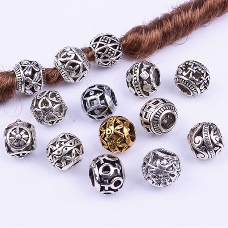 20шт Silver Tone Spacer Beads Сыпучего Hollow филигранного тибетские бусины для изготовления ювелирных изделий оптовых шариков для изготовления ювелирных изделий