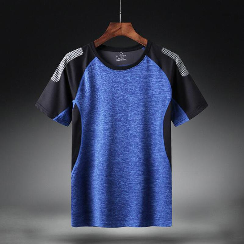 Quick Dry Sport T Shirt Men Short Sleeves Summer Casual Cotton Plus Asian Size M-5XL 6XL Top Tees GYM Tshirt Clothes