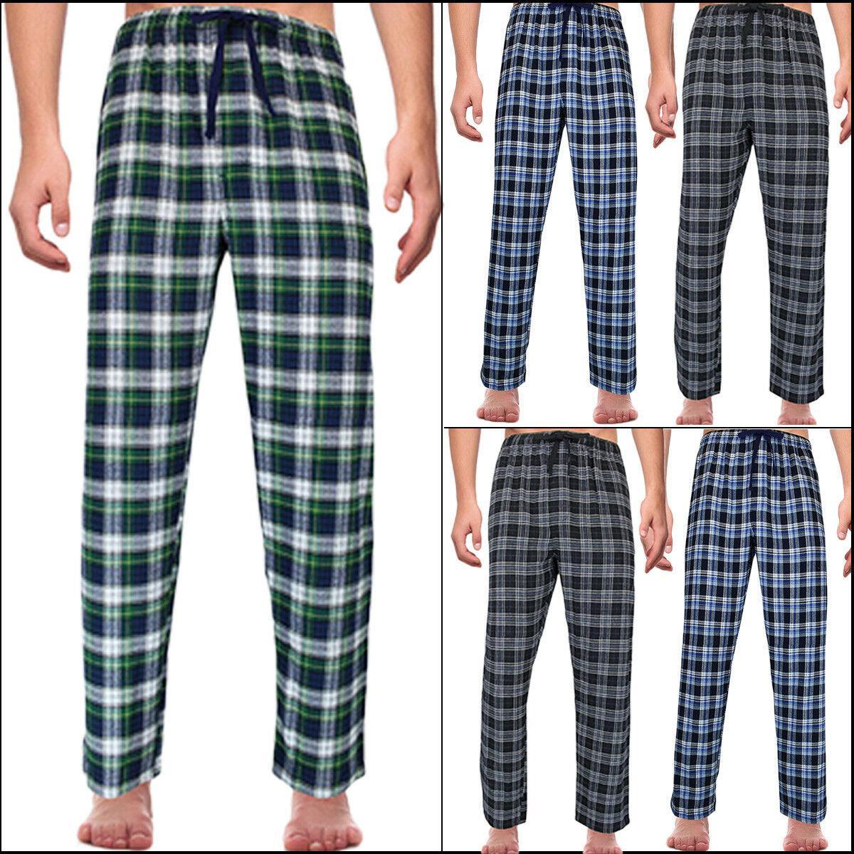 MEN 격자 무늬 수면 바지 CHECK LOUNGE PANT 파자마 BOTTOM 잠옷 COTTON 격자 무늬 잠옷 M L XL 2XL