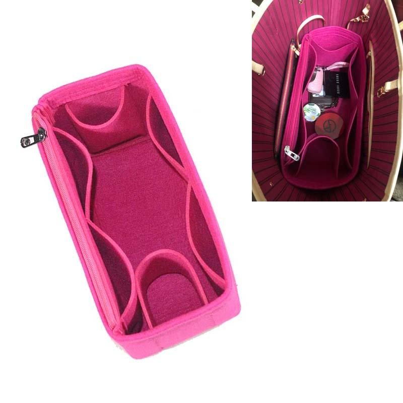 Neverfull PM MM GM Войлок Ткань Вставить Speedy сумка Организатор макияж сумка Организатор путешествий Внутренний Кошелек младенца Cosmetic Bag Мамочка