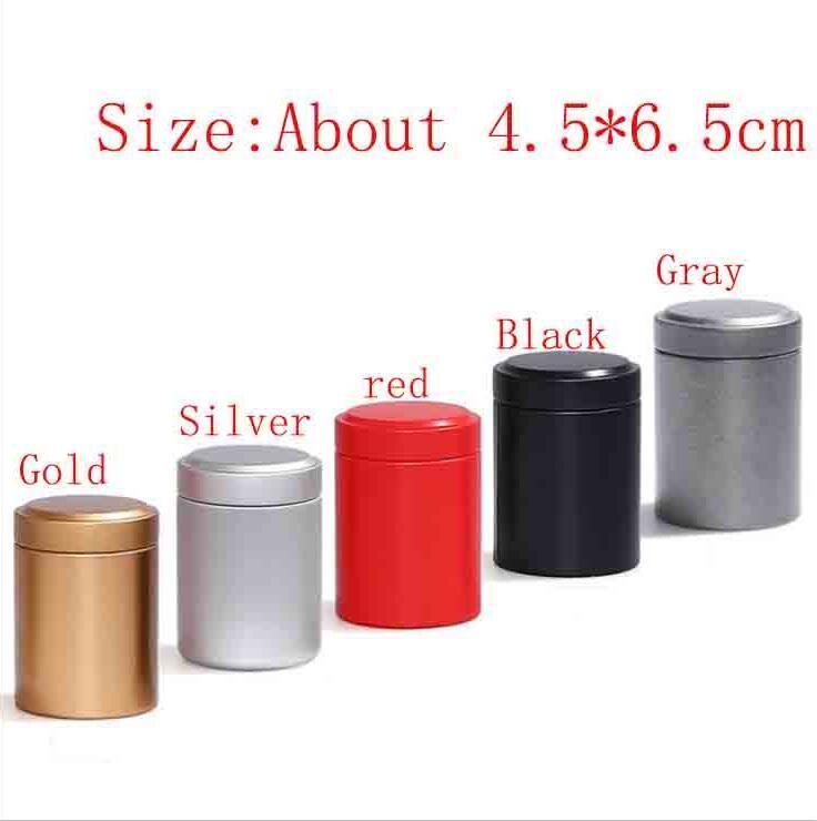 Píldora del mini metal Ronda cuadro titular ventajosas estuche de almacenamiento de contenedores impermeables latas de té Tabaco Mechero 5 colores