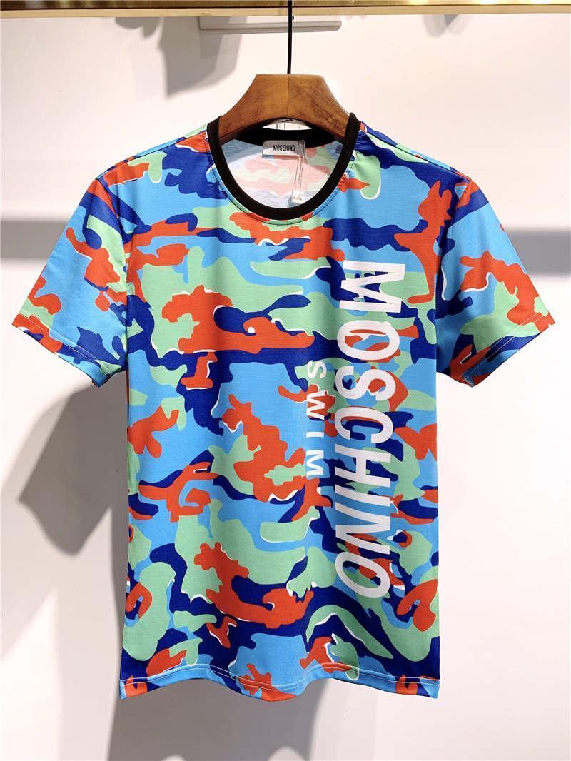 2020 Verão New DesignerMoschino20ss Top Quality Luxo Tees Men Womens roupa masculina t-shirt impressão M-3XL H147