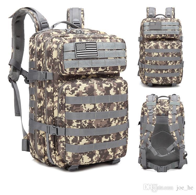 Designer-tático assalto Pacote Mochila Exército Molle Waterproof Bug Out Bag Mochila pequena para Outdoor Caminhadas Camping Caça
